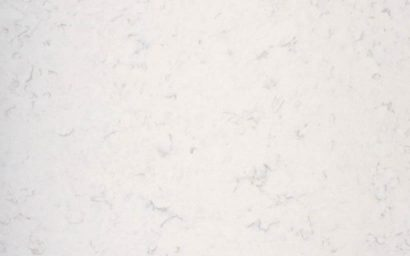 A sample of CRL Quartz's scratch resistant, cream kitchen & bathroom surface with swirls of brown