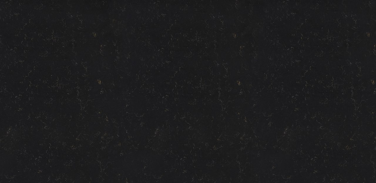 A sample of CRL Quartz's Gold Noir kitchen and bathroom surface