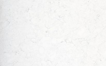 A sample of CRL Quartz's White Water kitchen and bathroom marble surface