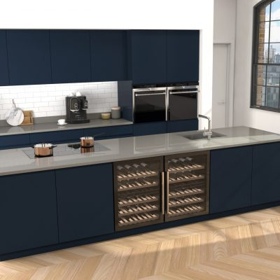 CRL Quartz's stunning, wear & tear resistant Concrete Grey surface in a lovely kitchen