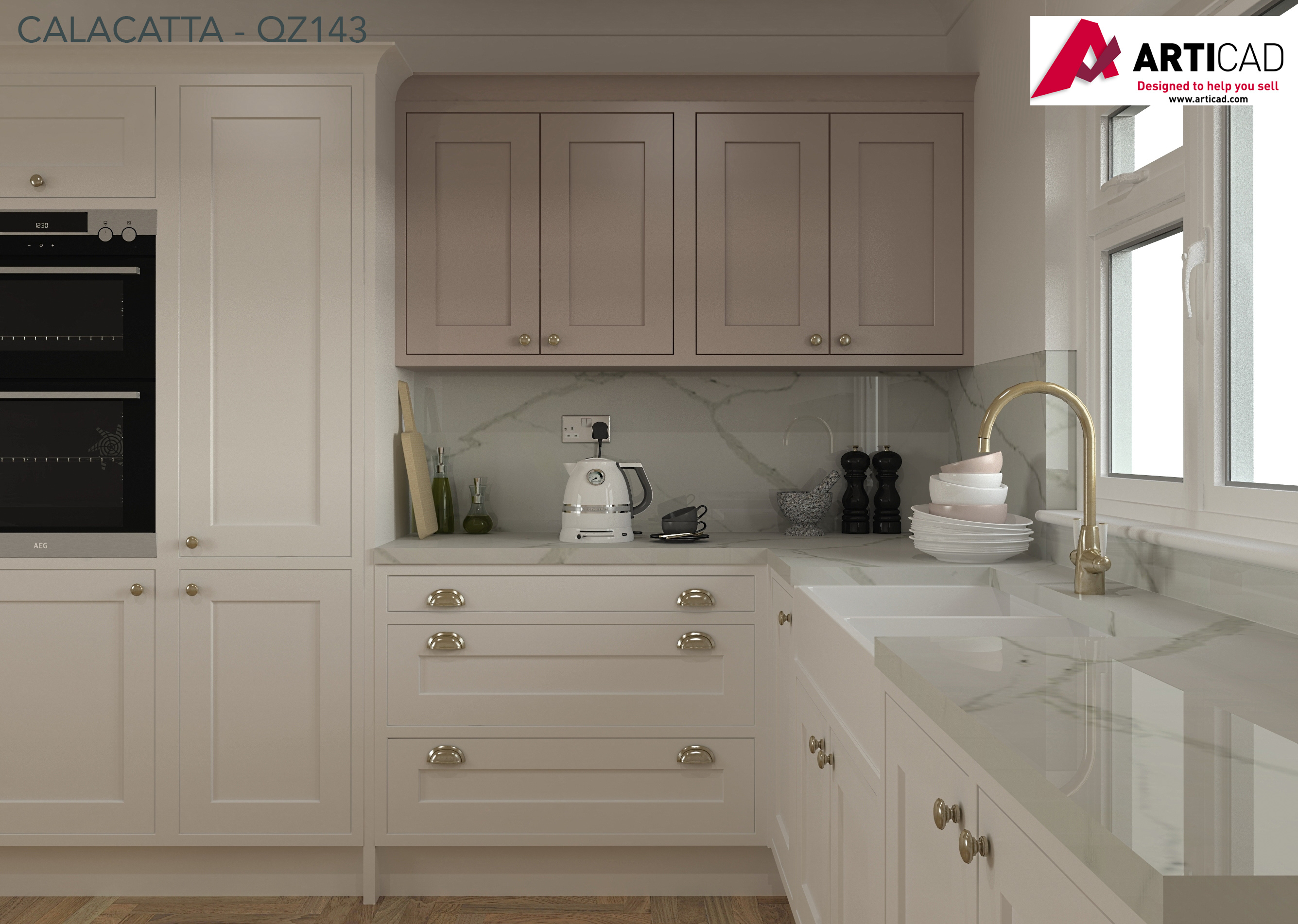 CRL Quartx Calacatta on Articad